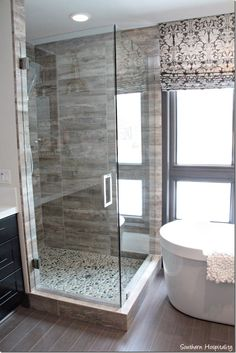 master shower/glass enclosure