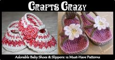 Adorable Baby Shoes & Slippers: 12 Must-have Knit & Crochet Patterns - CraftsCrazy