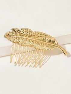 Metal Leaf Design Hair Pin | SHEIN South Africa Leaf Design, Free Gifts, Hair Pins, Bobby Pins, Headbands, Hair Accessories, Metal, South Africa, Gold
