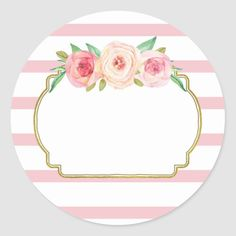 Shop Rose Stripes Pink Floral Baby Shower Favor Tags created by DreamingMindCards. Mothers Day Quotes, Happy Mothers Day, Etiquette Vintage, Graduation Decorations, Baby Album, Floral Baby Shower, Baby Shower Favors, Baby Favors, Shower Gifts