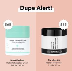 Beauty Dupes, Beauty Hacks, Drunk Elephant, Makeup To Buy, Collagen, Tubs, Protein, Moisturizer, Packaging