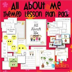 All about me my name is lesson plan from play learn love all about me preschool lesson plan pack edlah themed units include hands on activities fandeluxe