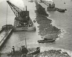 28 mei 1932 ♦ Het laatste gat in de Afsluitdijk wordt gedicht.