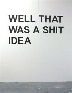 Shit ideas happen. @thecoveteur