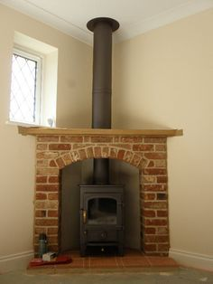 corner wood stove on Pinterest | Wood Burning Stoves, Wood Stoves ...