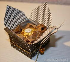 Verpackung für Ferrero Rocher mit dem Envelope Punch Board - Anleitung im Post vom 7.11.2013