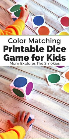 These printable dice games for kids are the perfect learning activity to teach color recognition and color words via color matching. Free Games For Kids, Learning Games For Kids, Interactive Activities, Kids Learning Activities, Color Activities, Toddler Activities, Montessori Toddler, Color Games For Toddlers, Montessori Bedroom