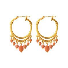 American Arts and Crafts Beaded Hoop Earrings - Earrings - Jewelry - The Met Store $65