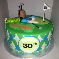 Golf cake Golf Cakes, Golf Party, Gifts For Golfers, Dessert Ideas, Celebrations, Cake Decorating, Birthdays, Party Ideas, Desserts