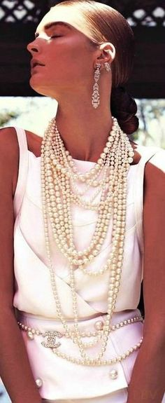 Chanel Cruise 2014 -- Okay, so the earrings are a bit much! Love the layers…