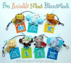animal felt name banner