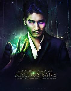 Godfrey Geo was Magnus Bane in City of Bones.... I Love Him.