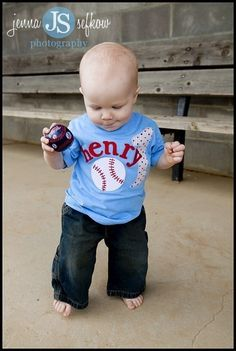 Will need to get our hands on this for Beau's first birthday!!! Maybe for birthday cake pics so the baseball tee doesn't get smashed. Lol.