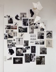 Black and white moodboard in the home of Nathan Williams in Copenhagen. Photo - Magnus Mårding for My Residence.
