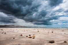 Storm Clouds on the Beach in the Fleurieu Peninsula, South Australia