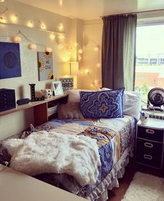 If you need ideas for cute dorm rooms, here are tons of cute dorm room decor ideas that will give you inspiration! These chic and cute dorm room ideas are affordable and perfect for a student budget. Dorms Decor, Decor Room, Bedroom Decor, Target Room Decor, College Dorm Decorations, Bedroom Lighting, Dorm Room Colors, Cute Dorm Rooms, Girl Dorm Rooms