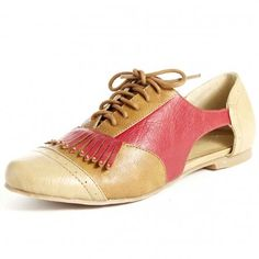 {gold & red cut-out oxford} by neuaura
