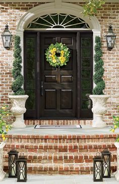 Let sunny zinnia blooms and lemons invigorate your space, and your day. The Granada Lemon Zinnia Wreath is handcrafted with exceedingly lifelike foliage, including white eucalyptus berries and jasmine flowers.
