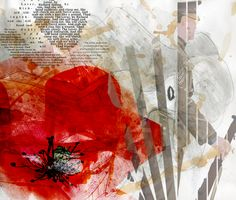 BTEC Extended Diploma in Graphic Design at Dudley College. A mixed media design for a World War One assignment. Mixed Media Artwork, Mixed Media Artists, A Level Textiles Sketchbook, Textile World, Armistice Day, Classroom Projects, Remembrance Day, Gcse Art, World War One