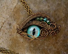 SOLD Steampunk Gothic Pendant Dragon Evil by ABlueRosesCreation