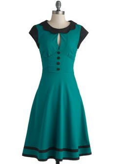 Cocktail Swap Dress. Your pals adore your homemade punch as much as they do your retro dress! #green #modcloth