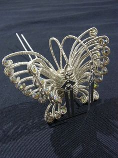 """Kanzashi (hair ornament) for a """"maiko"""" (apprentice geisha).  This is a butterfly kanzashi with lovely details."""
