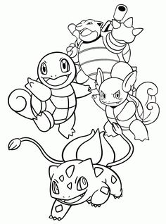 Pokemon Squirtle Coloring Pages Through the thousand