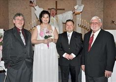 Priest photobomb! and other funnies...When Wedding Photos Go Wrong