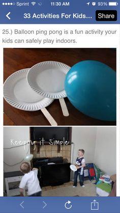 Balloon ping pong