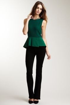bootcut jeans and peplum top