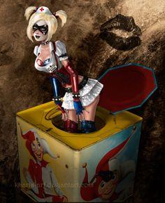 Arkham Harley in the Box by kharis-art on @DeviantArt