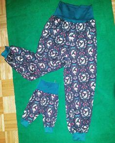 Babyhöschen in Partnerlook mit der Mama Harem Pants, Pajama Pants, Pajamas, Fashion, Trousers, Kids, Pjs, Moda, Harem Trousers