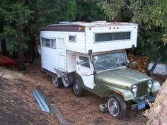 Jeep Universal camper introduced in the late Cj Jeep, Jeep Truck, Jeep Wrangler, Luxury Campers, Classic Campers, Vintage Jeep, Camper Caravan, Gypsy Caravan, Truck Camping
