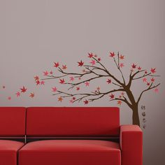 Art Applique by KMG Japanese Maple Tree Decorative Wall Decal