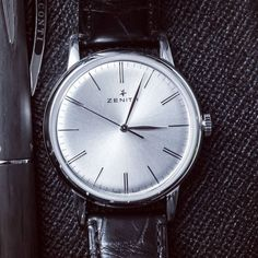 Zenith Watches Elite 6150 in a 42 mm ultra-thin stainless steel case and more than 4 days (100 hours) of power reserve