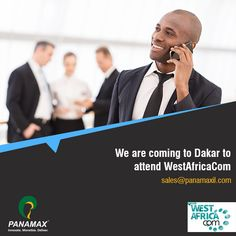Panamax_inc is attending #WestAfricaCom on 8-9 June in #Dakar. Send us an email at sales@panamaxil.com to schedule a meeting with our representatives. #Africa #Events #Global #mFinance #FinTech #Dakar