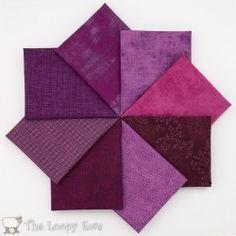 Purple fabric stack