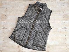 Herringbone PRINT Vest