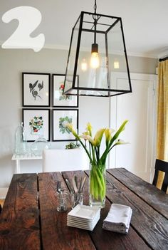How to stage your dining room - Home Staging Brisbane Home Staging, Rustic Table, Rustic Chic, Wood Table, Plank Table, Farmhouse Chic, Diy Table, Farmhouse Table, Modern Rustic