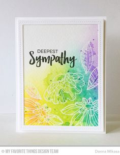 https://flic.kr/p/Qb5SAP | Deepest Sympathy | MFT Fancy Flowers Card Kit MFT Deepest Sympathy Blogged