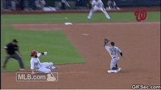 We miss baseball, so we wanted to GIF some of our favorite plays from Jayson Werth used his sweet dance moves to steal second base. Sports Fails, Sports Memes, Funny Sports, Sports Gif, Nfl Sports, Funny Quotes, Funny Memes, Hilarious, Jokes