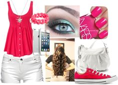 """""""Pink"""" by lari-ag ❤ liked on Polyvore"""