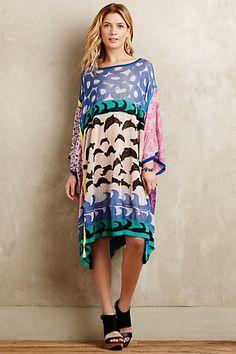 Seascape Jacquard Dress #anthropologie #anthrofave