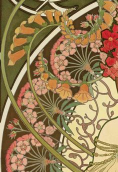 New art deco photography alphonse mucha Ideas Motifs Art Nouveau, Art Nouveau Mucha, Alphonse Mucha Art, Art Nouveau Flowers, Art Nouveau Pattern, Art Nouveau Design, Tatuaje Art Nouveau, Nouveau Tattoo, Art Nouveau Illustration