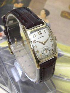 Hamilton OH済 アンティークハミルトンBoulton14KGFCal.982 時計 Watch Antique ¥25800yen 〆09月28日
