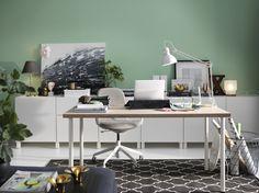 LÅNGFJÄLL bureaustoel | IKEA IKEAnl IKEAnederland stoel werkplek studeerkamer werken studeren bureau werk grijs wit ergonomisch kantoor BESTÅ tv-meubel HOVSLUND vloerkleed interieur inspiratie