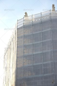 Restoration of an old classical facade ...  building, built, city, construction, crane, engineering, exterior, facade, maintain, rebuilt, reconstruction, renovation, repair, residential, restoration, scaffolds, sky, structure, surface, urban, wall, work