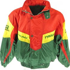 06a6205d2b9 Vintage 80s Tyrolia Ski Jacket Mens 48 Head Patches Embroidery