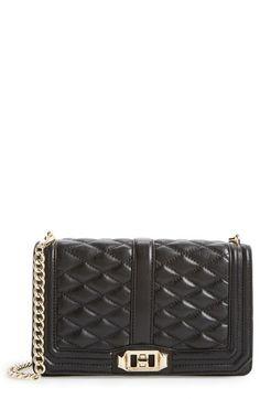 "Rebecca Minkoff ""Love"" Crossbody Bag   Black & Light Gold Hardware   $295.00   Nordstrom"