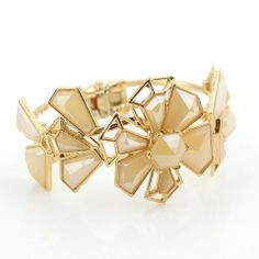 Gold color Cuff Flower Bracelet